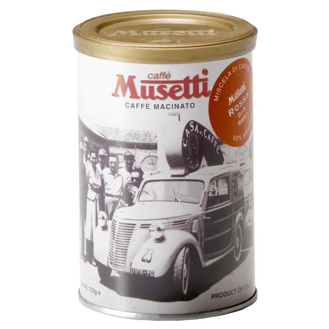ムセッティ ロッサ コーヒーパウダー 125g缶 [MG125-RO]