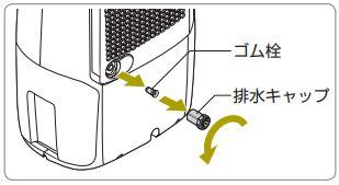 デロンギ 衣類乾燥除湿機 タシューゴ アリアドライ マルチ [DEX16FJ]用 ゴム栓 [商品コード:NE2470]