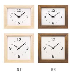 La Luz (ラ・ルース)リブクロック★木製 木 時計 クロック インテリア