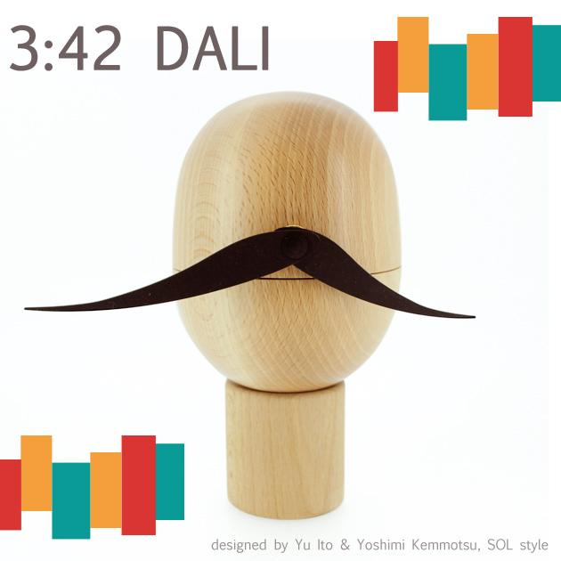 3ジ42フンノオトコ DALI 時計★La Luz ラ・ルース 木製 木 時計 クロック インテリア