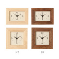 La Luz (ラ・ルース)リブクロックミニ★木製 木 時計 クロック インテリア