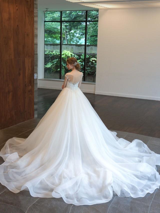 ホースヘアのウェディングドレス プリンセスライン
