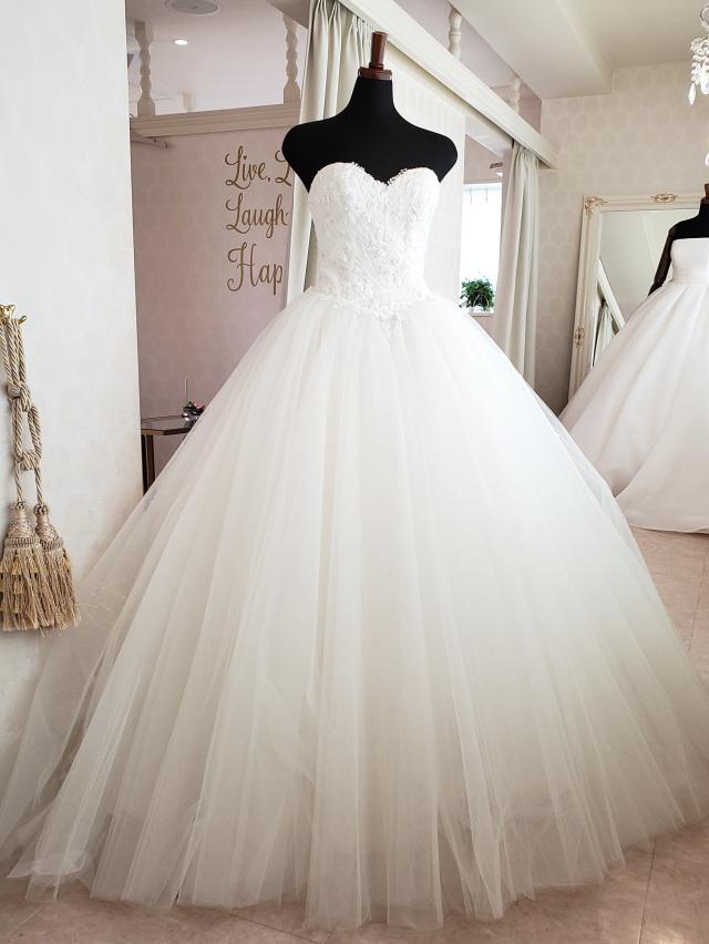 ボタニカル ウェディングドレス チュールドレス
