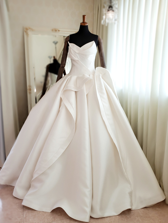 ミカドサテンドレス ミカドシルクドレス ノーブルドレス ホテルウェディングドレス
