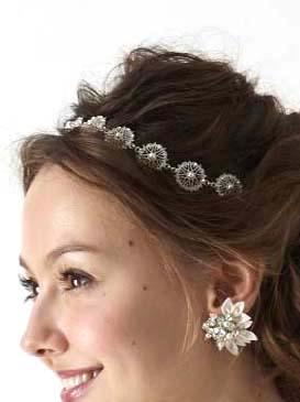 Elizabeth Bower Lace Band Crystalヘッドドレス