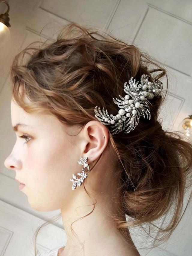ヘッドコーム ivory & co brooke ヘッドドレス ビジューヘッド ブライダルアクセサリー