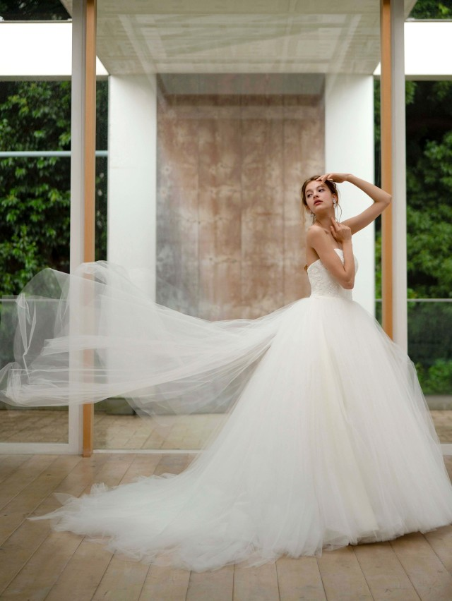 チュールドレス バレリーナ ウェディングドレス  ウェディングドレス