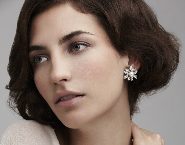 Elizabeth bower Lily Crystal Earrings