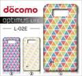 docomo LG Optimus LIFE L-02E・デザインケース【triangle】