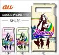 au SHARP AQUOS PHONE SERIE SHL21デ・ザインケース【Hawaii】