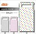 au SHARP AQUOS PHONE SERIE SHL21デ・ザインケース【dot】