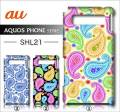 au SHARP AQUOS PHONE SERIE SHL21デ・ザインケース【paisley】