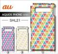 au SHARP AQUOS PHONE SERIE SHL21デ・ザインケース【triangle】