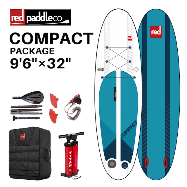 【RED PADDLE CO レッドパドル】 インフレータブルSUP サップ COMPACT PACKAGE 9'6ft