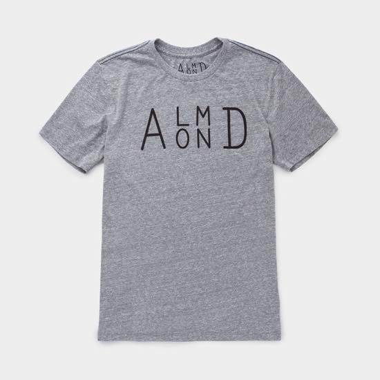 【ALMOND アーモンド】 SIDESTACK T-SHIRT  HEATHER GREY