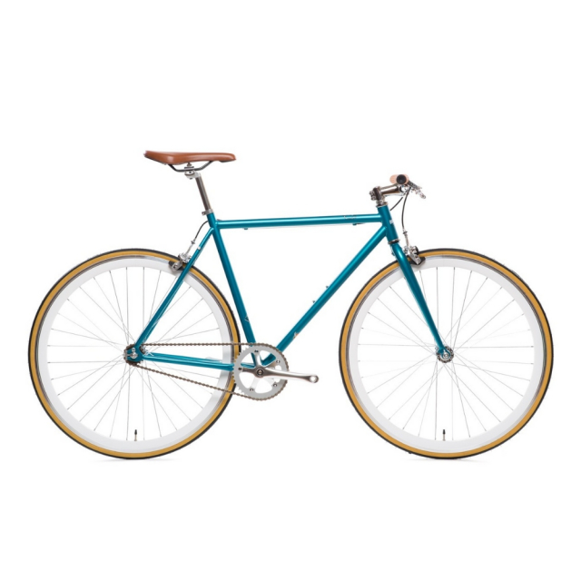 【STATEBICYCLE ステイトバイシクル】CORE-LINE BEORN CLASSIC TEAL AND CHROME ピストバイク 完成車