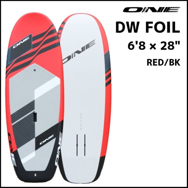"""【ONE ワン】 ONE DOWN WINDOW FOIL 6'8×26"""" Red/Black"""