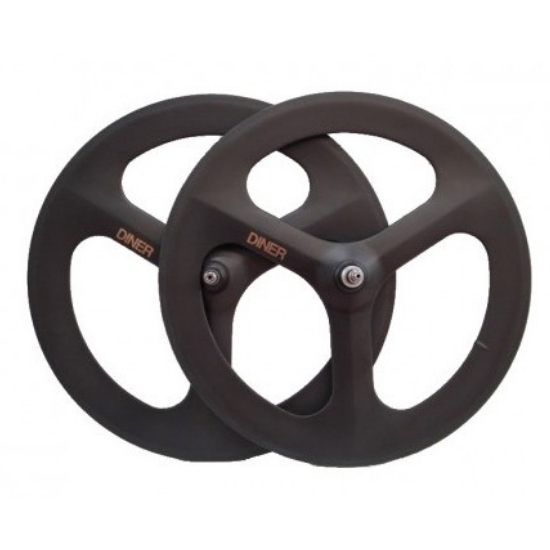 【DINER ORIGINAL ダイナーオリジナル  】 3SPOKE CLINCHER CARBON WHEEL FRONT&REAR SET カーボンホイール