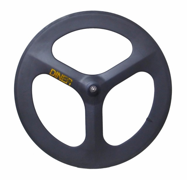 【DINER ORIGINAL ダイナーオリジナル  】 3SPOKE CLINCHER CARBON WHEEL FRONT カーボンホイール