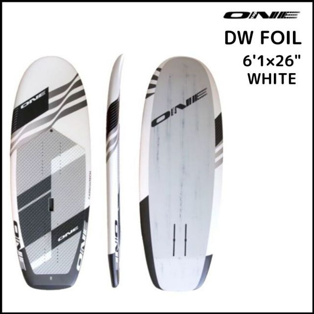 """【ONE ワン】 ONE DOWN WINDOW FOIL FULL CARBON 6'1×26"""" WHITE/BLACK"""