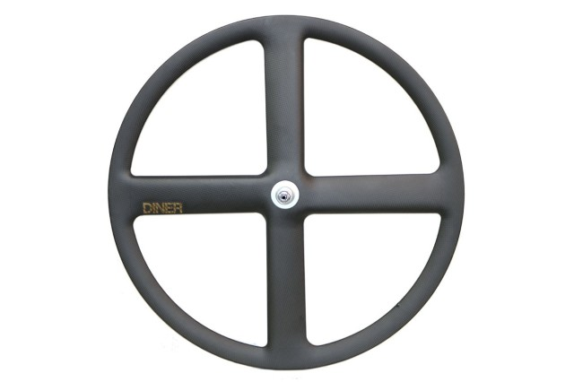 【DINER ORIGINAL ダイナーオリジナル  】 4SPOKE CLINCHER CARBON WHEEL REAR カーボンホイール