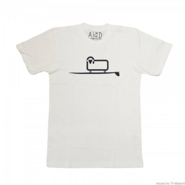 【ALMOND アーモンド】 ALMOND X WOOLRICH/Tee/White