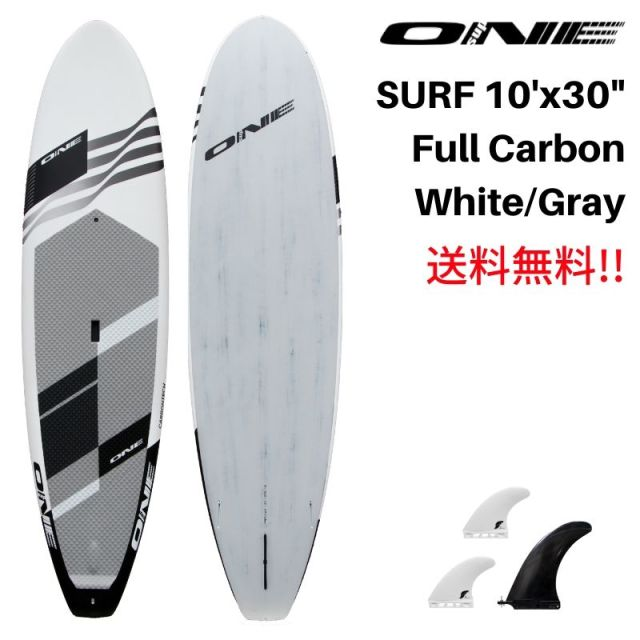 "【ONE ワン】 ONE SUP SURF 10'0 × 30"" WHITE FULL CARBON"