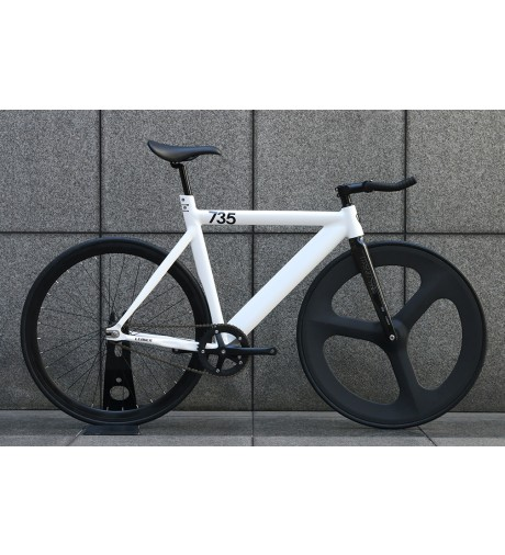 【LEADERBIKES リーダーバイク】 735TR FRONT 3SPOKE CARBON WHEEL CUSTOM