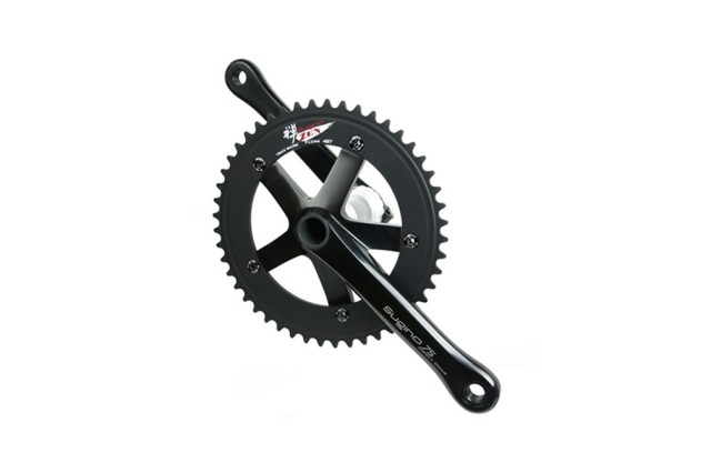 【SUGINO スギノ】 SG75 DIRECT DRIVE BLACK CRANK SET