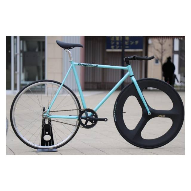 【CARTELBIKES カーテルバイク】 AVENUE LO SKY BLUE DINER FRONT 3SPOKE CARBON WHEEL  カスタム完成車