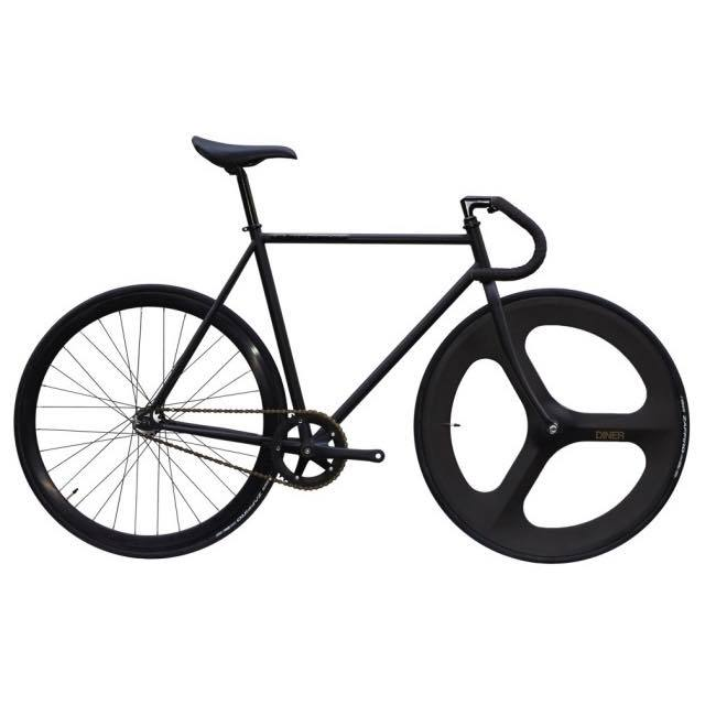 【CARTELBIKES カーテルバイク】 AVENUE MAT BLACK DINER FRONT 3SPOKE CARBON WHEEL  カスタム完成車