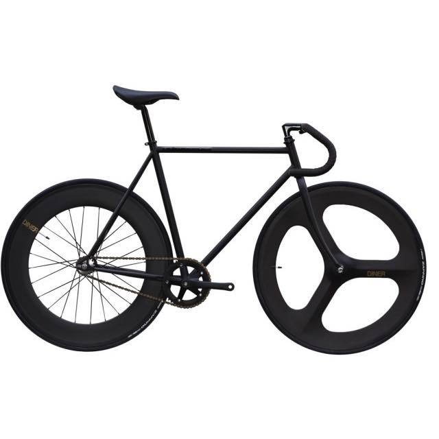 【CARTELBIKES カーテルバイク】 AVENUE MAT BLACK DINER FRONT 3SPOKE REAR 88mm CARBON WHEEL  カスタム完成車