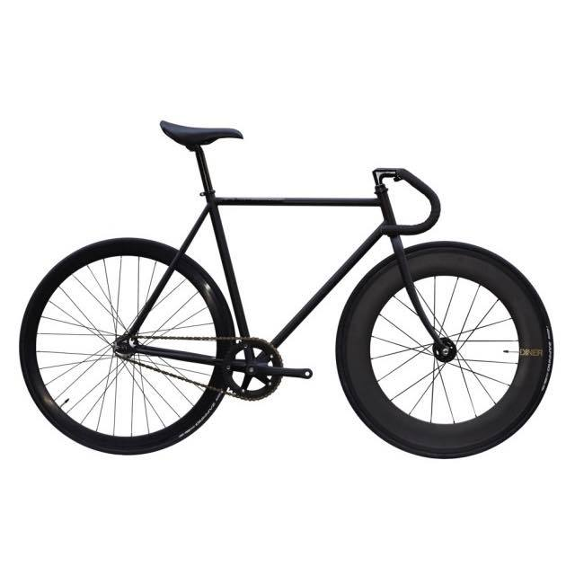 【CARTELBIKES カーテルバイク】 AVENUE MAT BLACK DINER FRONT 88mm CARBON WHEEL  カスタム完成車