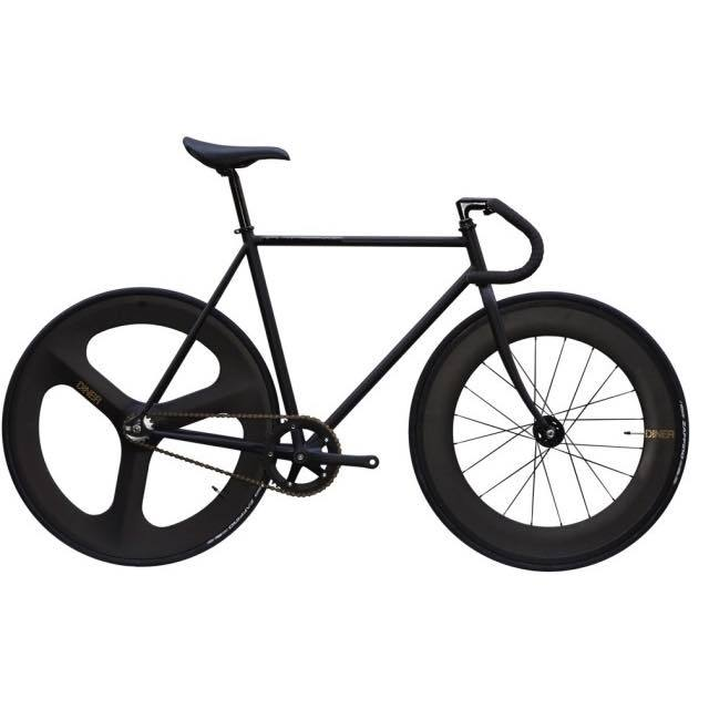 【CARTELBIKES カーテルバイク】 AVENUE MAT AVENUE DINER FRONT 88mm REAR 3SPOKE CARBON WHEEL  カスタム完成車