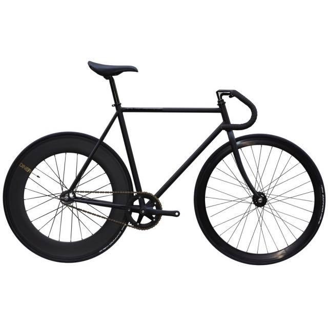 【CARTELBIKES カーテルバイク】 AVENUE MAT BLACK DINER REAR 88mm CARBON WHEEL  カスタム完成車