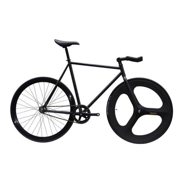 【CARTELBIKES カーテルバイク】 AVENUE LO MAT BLACK DINER FRONT 3SPOKE CARBON WHEEL  カスタム完成車