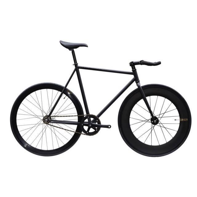 【CARTELBIKES カーテルバイク】 AVENUE LO MAT BLACK DINER FRONT 88mm CARBON WHEEL  カスタム完成車