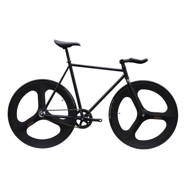 【CARTELBIKES カーテルバイク】 AVENUE LO MAT BLACK DINER FRONT&REAR 3SPOKE CARBON WHEEL  カスタム完成車