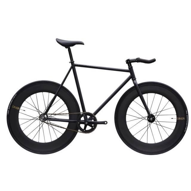 【CARTELBIKES カーテルバイク】 AVENUE LO MAT BLACK   DINER FRONT&REAR 88mm CARBON WHEEL カスタム完成車