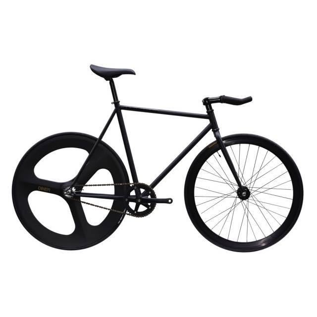【CARTELBIKES カーテルバイク】 AVENUE LO MAT BLACK DINER REAR 3SPOKE CARBON WHEEL  カスタム完成車