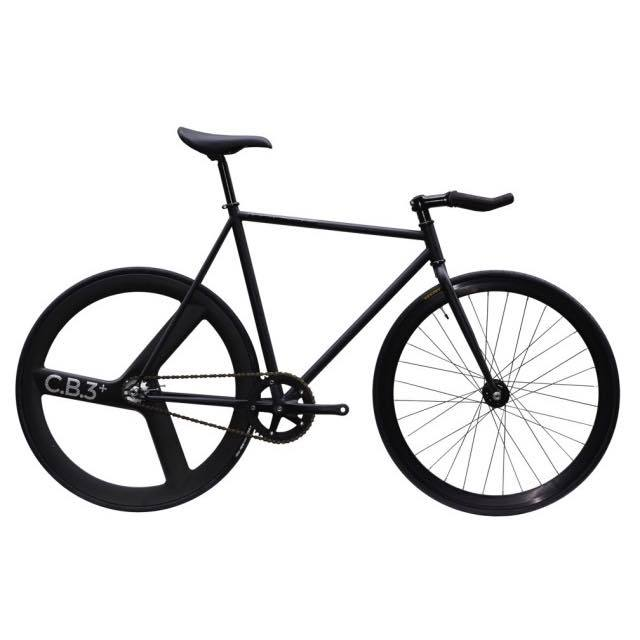 【CARTELBIKES カーテルバイク】 AVENUE LO MAT BLACK REAR C.B.3 PLUS CARBON WHEEL  カスタム完成車