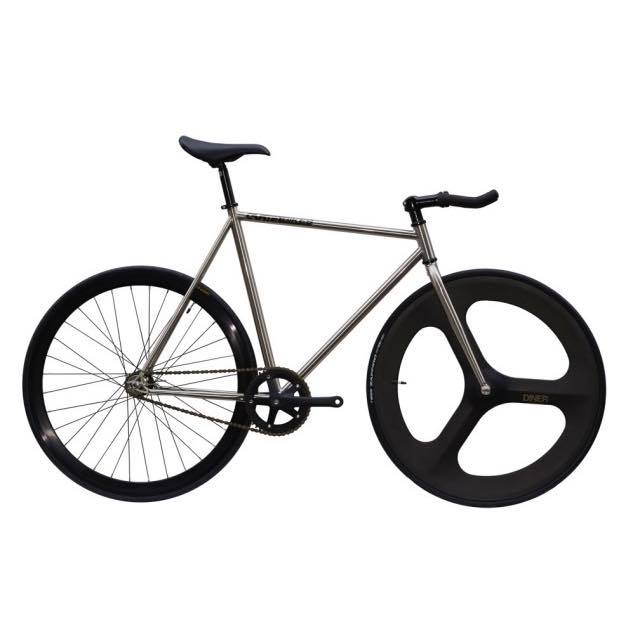 【CARTELBIKES カーテルバイク】 AVENUE LO CHROME DINER FRONT 3SPOKE CARBON WHEEL  カスタム完成車