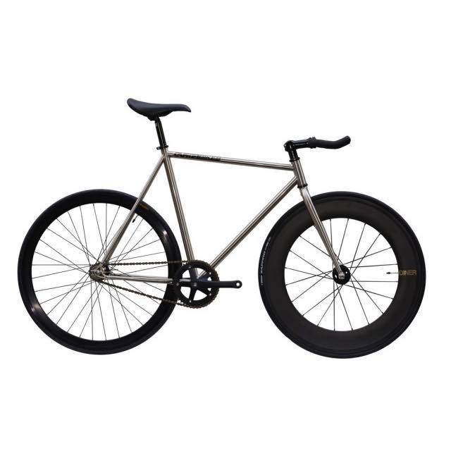 【CARTELBIKES カーテルバイク】 AVENUE LO CHROME DINER FRONT 88mm CARBON WHEEL  カスタム完成車
