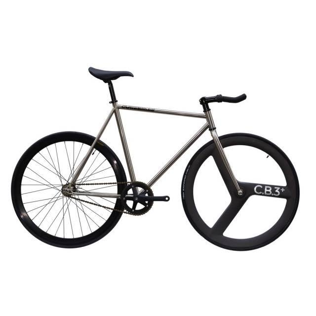 【CARTELBIKES カーテルバイク】 AVENUE LO CHROME FRONT C.B.3 PLUS CARBON WHEEL  カスタム完成車