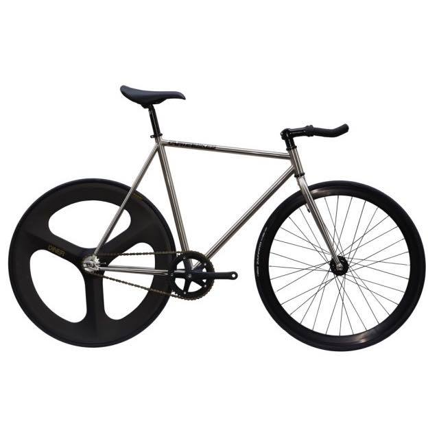 【CARTELBIKES カーテルバイク】 AVENUE LO CHROME DINER REAR 3SPOKE CARBON WHEEL  カスタム完成車