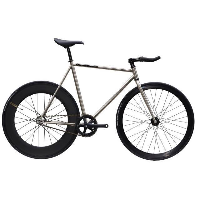 【CARTELBIKES カーテルバイク】 AVENUE LO CHROME DINER REAR 88mm CARBON WHEEL  カスタム完成車