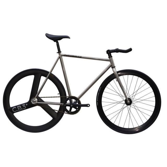 【CARTELBIKES カーテルバイク】 AVENUE LO CHROME REAR C.B.3 PLUS CARBON WHEEL  カスタム完成車