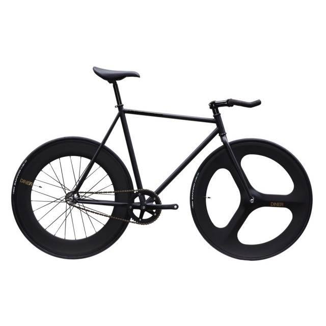 【CARTELBIKES カーテルバイク】 AVENUE LO MAT BLACK DINER FRONT 3SPOKE REAR 88mm CARBON WHEEL  カスタム完成車
