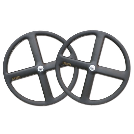 【DINER ORIGINAL ダイナーオリジナル  】 4SPOKE CLINCHER CARBON WHEEL FRONT&REAR SET カーボンホイール