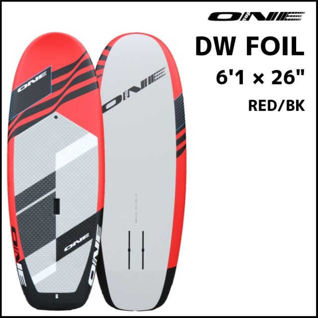 """【ONE ワン】 ONE DOWN WINDOW FOIL 6'1×26"""" Red/Black"""